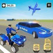 美国警察豪华轿车运输机